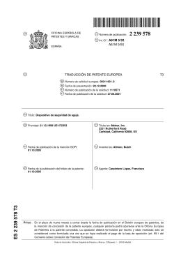 DISPOSITIVO DE SEGURIDAD DE AGUJA.(ES2239578)