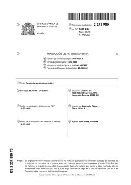 DESCELURIZACION DE UN TEJIDO.(ES2231980)