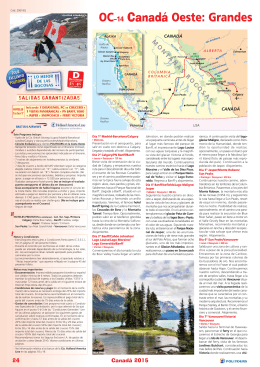 OC-14 Canadá Oeste: Grandes Parques Nacionales +