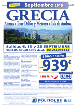 OFERTAS 2015 - Event Travel Consulting