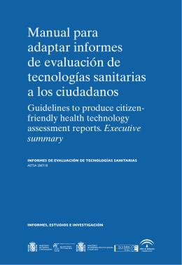 Manual para adaptar informes de evaluación de tecnologías