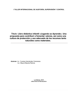 Título: Libro didáctico infantil