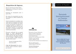 Doctorado Interinstitucional en Ciencias Ambientales