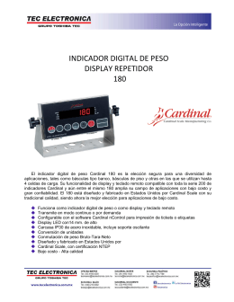 INDICADOR DIGITAL DE PESO DISPLAY REPETIDOR 180