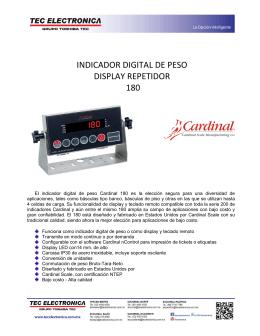 INDICADOR DIGITAL DE PESO DISPLAY REPETIDOR 180