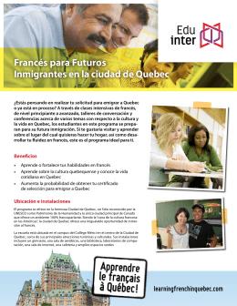 Francés para Futuros Inmigrantes en la ciudad de Quebec