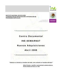 Abril - Instituto Nacional de Ecología