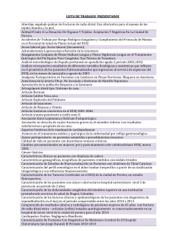 Lista Trabajos de Investigación