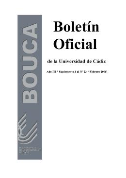 Boletín Oficial de la Universidad de Cádiz