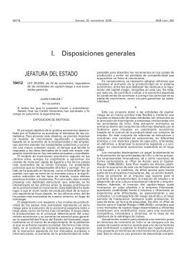 I. Disposiciones generales - Dirección General de Industria y de la