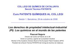1. Los derechos de propiedad intelectual