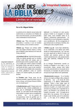 yqdlb límites en el noviazgo - Ministerios Integridad & Sabiduría