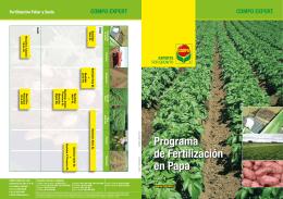 Programa de Fertilización en Papa