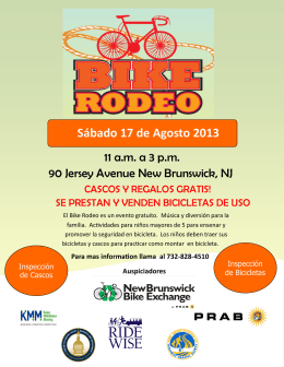 Folleto de Bike Rodeo