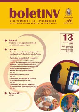 1 boletINV - Vicerrectorado de Investigación | UNMSM