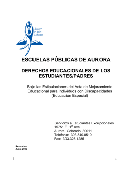 ESCUELAS PÚBLICAS DE AURORA