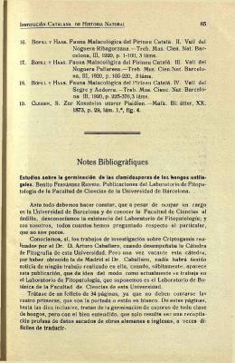 Notes Bibliográfiques