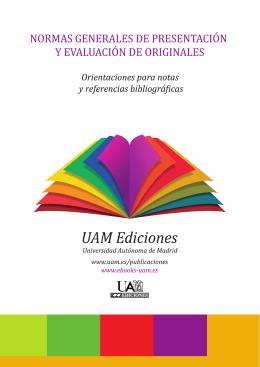normas de presentación - Universidad Autónoma de Madrid
