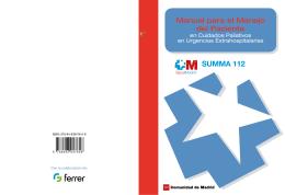 Manual para el manejo del paciente en cuidados