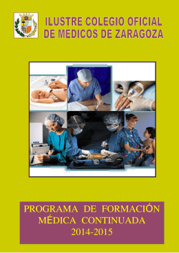 PROGRAMA DE FORMACI N Ó M DICA CONTINUADA É 2014-2015