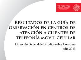 Guía de observación a Centros de Atención a Clientes de Telefonía