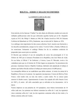 No emitidos - Filatelia de Bolivia
