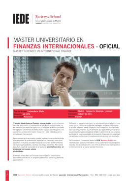 máster universitario en finanzas internacionales