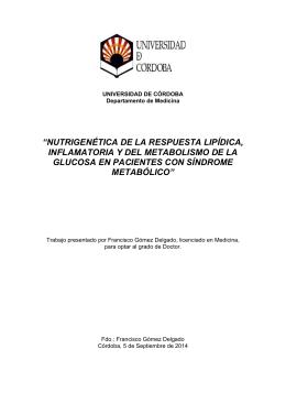 nutrigenética de la respuesta lipídica, inflamatoria y del