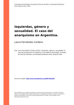 Izquierdas, género y sexualidad. El caso del