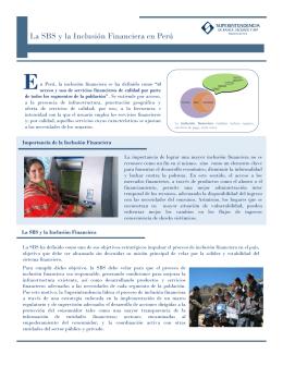 La SBS y la Inclusión Financiera en Perú
