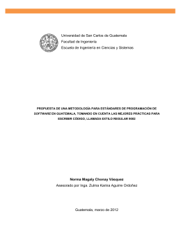 Universidad de San Carlos de Guatemala Facultad de Ingeniería