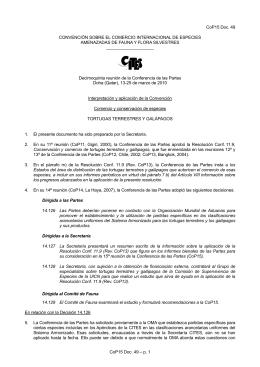 CoP15 Doc. 49 CONVENCIÓN SOBRE EL COMERCIO