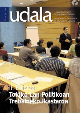 II. Edizioa Tokiko Lan Politikoan Trebatzeko Ikastaroa II