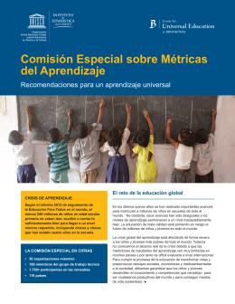comisión especial sobre métricas del aprendizaje