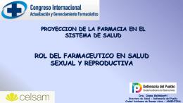 rol del farmaceutico en salud sexual y reproductiva