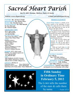 February 5, 2012 - Sacred Heart Parish