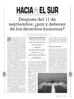 Hacia el Sur. Cuaderno de ACSUR-Las Segovias