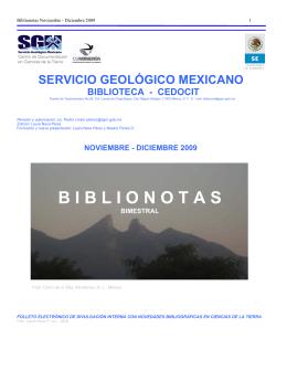 Noviembre-Diciembre - Servicio Geológico Mexicano