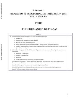 Uso de Plaguicidas en Perú