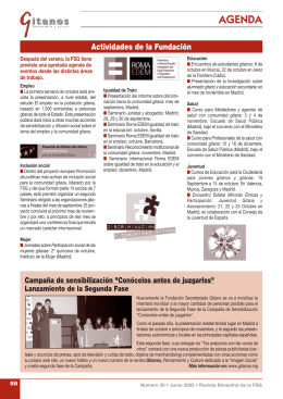 Dietario - Fundación Secretariado Gitano