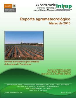 Marzo - INIFAP Zacatecas - Instituto Nacional de Investigaciones