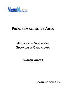 PROGRAMACIÓN DE AULA - Maristas Compostela
