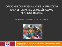 Programa de Educación Regular en Inglés
