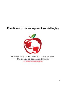 Plan maestro de los Aprendices del Inglés