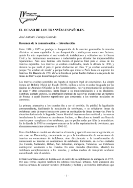 EL OCASO DE LOS TRANVÍAS ESPAÑOLES. José