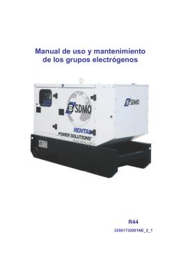 Grupo electrógeno Grupo electrógeno R44 - Manual
