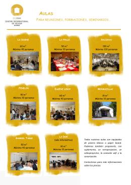 Informaciones sobre las aulas y salas de reuniones