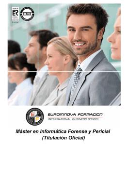 Máster en Informática Forense y Pericial (Titulación Oficial)
