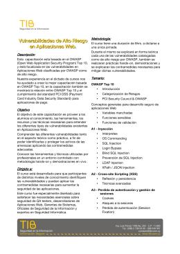 Descripción completa y temario de la capacitación