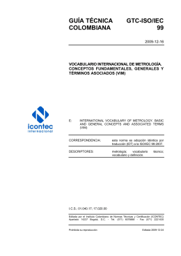 GTC-ISO-IEC 99 - ICONTEC Internacional